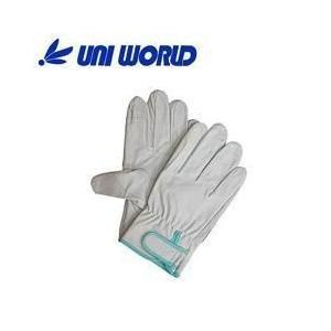ユニワールド 皮製手袋 豚革クレスト手袋 マジック 当付 330|kanamono1