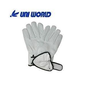 ユニワールド 皮製手袋 内綿豚革クレスト手袋 マジック 356|kanamono1
