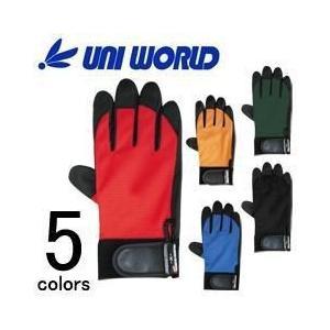 ユニワールド 合成皮革手袋 PU-グローブ 2510 (RD OR BL BK OD)|kanamono1