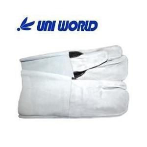 ユニワールド 皮製手袋 牛床革手 溶接3本長 31-B|kanamono1