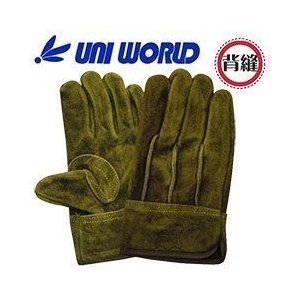 ユニワールド/皮製手袋/A級オイルオリーブ背縫い 特殊オイル加工 KS465|kanamono1
