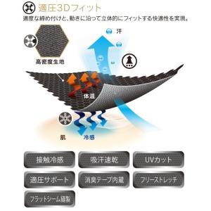 EVENRIVER(イーブンリバー)/夏対策商品/アイスコンプレッションローネック(七分袖) GT-07|kanamono1|02