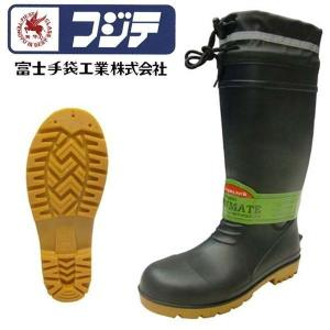 長靴 安全長靴 耐油 ロング レインブーツ レインシューズ 大きいサイズ 防水 雨靴 梅雨対策 作業用 富士手袋工業 PVC安全ブーツ F-9665|kanamono1