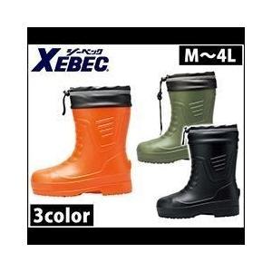 長靴 あったか スパイク レインブーツ レインシューズ 防水 雨靴 XEBEC(ジーベック) EVAショート丈防寒長靴 85715|kanamono1