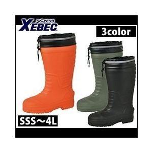 長靴 スパイク レインブーツ レインシューズ 防水 雨靴 XEBEC(ジーベック) EVA防寒長靴 85712|kanamono1