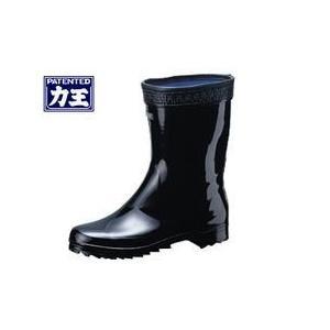 長靴 レインブーツ レインシューズ 防水 雨靴 梅雨対策 力王 短半長 B022|kanamono1