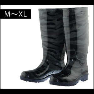 【エントリーでポイント5倍】安全長靴 迷彩セーフティブーツ エクウィップ EK-757 EK|kanamono1