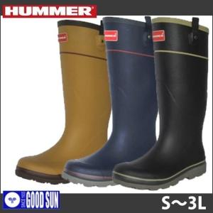 長靴 おしゃれ レインブーツ レインシューズ 防水 雨靴 梅雨対策 弘進ゴム HUMMER(ハマー) メンズラバーブーツ H2-01|kanamono1