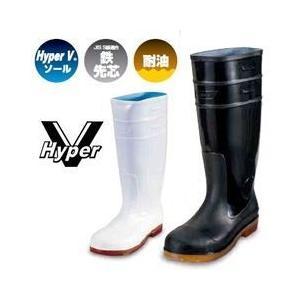 長靴 安全長靴 レディース レインブーツ かわいい 防水 日進ゴム Hyper V 衛生長靴 #4500 女性サイズ対応|kanamono1