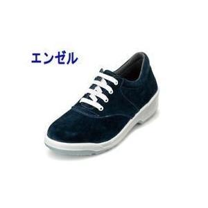 エンゼル 安全靴 女性ウレタン2層スニーカー(ヒモ) ANL3011ベロア|kanamono1