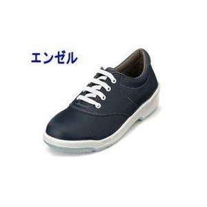 エンゼル 安全靴 女性ウレタン2層合皮スニーカー(ヒモ) ANL3011B|kanamono1