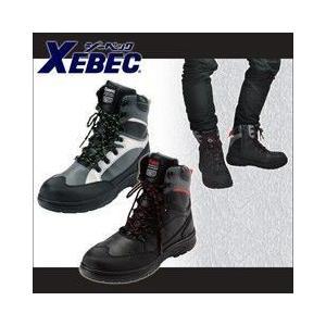 安全靴 ハイカット サイドファスナー付き ブーツ 軽量 編み上げ ジーベック 85205|kanamono1