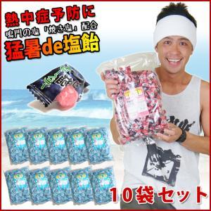 【エントリーでポイント5倍】塩飴 業務用 熱中症 対策 猛暑de塩飴1kg×10袋 お得セット|kanamono1