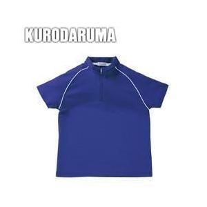 クロダルマ 春夏作業服 レディース半袖ハーフジップシャツ 26445|kanamono1