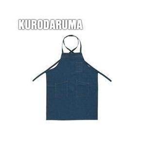 クロダルマ 春夏作業服 デニムエプロン(ヒモ) 47224|kanamono1