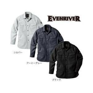 EVENRIVER(イーブンリバー) 秋冬作業服 フィッシャーストライプ シャツ US-1106|kanamono1