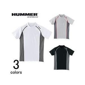 アタックベース 春夏作業服 HUMMER(ハマー)クールコンプレッション半袖クルーネック 9007-15|kanamono1
