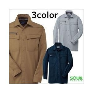 SOWA 春夏作業服 長袖シャツ 645|kanamono1