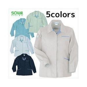 SOWA/春夏作業服/エコ女子長袖スモック 424|kanamono1