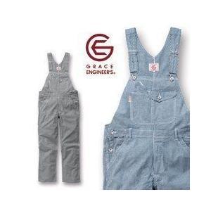 GRACE ENGINEER`S 春夏作業服 スタイリッシュ カジュアルサロペット GE-924|kanamono1