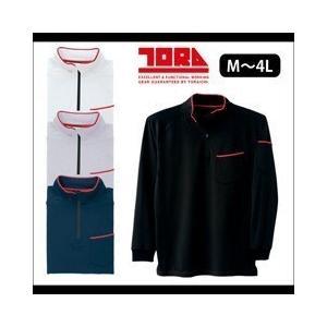 M〜3L|寅壱|秋冬作業服|裏起毛ジップアップハイネックシャツ 5961-623|kanamono1