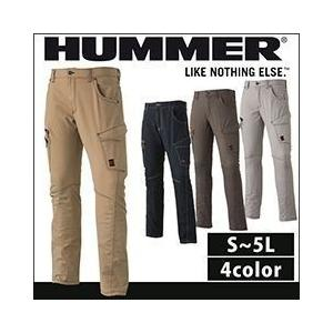 HUMMER ハマー 秋冬作業服 607-1 ストレッチ3Dカーゴパンツ|kanamono1