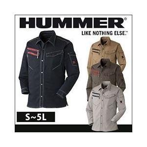 HUMMER|ハマー|秋冬作業服|601-6|ストレッチ長袖シャツ|kanamono1