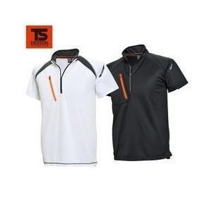 TSDESIGN(藤和)/春夏作業服/FLASH ショートスリーブハーフジップ 5015|kanamono1