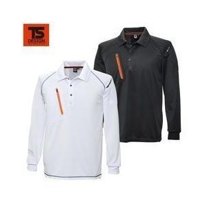 TSDESIGN(藤和) 春夏作業服 FLASH 長袖ポロシャツ 5075|kanamono1