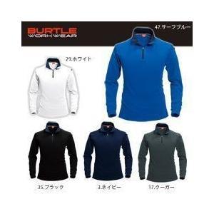 BURTLE(バートル) 春夏作業服 長袖ジップシャツ 413|kanamono1