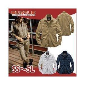 SS〜3L BURTLE バートル 秋冬作業服 長袖シャツ(ユニセックス) 8105|kanamono1