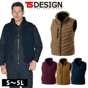 S〜4L TSDESIGN 藤和 秋冬作業服 ライトウォームベスト 3528|kanamono1