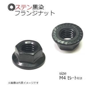 SUS フランジナット 黒色 M4 セレート付 8個入り|kanamonoasano
