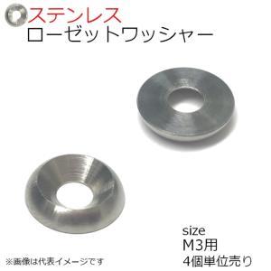 SUS ローゼットワッシャー 生地 M3用 4個入り kanamonoasano