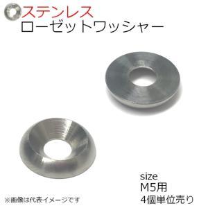 SUS ローゼットワッシャー 生地 M5用 4個入り kanamonoasano
