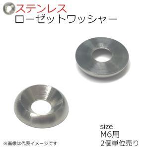 SUS ローゼットワッシャー 生地 M6用 2個入り kanamonoasano