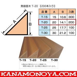 発泡面木 T-20 【200本入】  ●押出成形品なので仕上面が正確で均一になります。 ●木材のよう...
