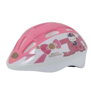 500系ハローキティ新幹線ヘルメット[自転車 鉄道 ストライダー SG規格 女の子 サンリオ]H-007の画像