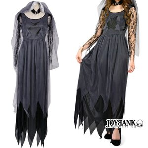 コスプレ ハロウィン 黒衣の花嫁 ウェディングドレス レディース コスチューム
