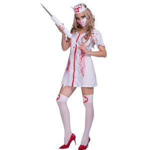 大人用 女性用 ハロウィン衣装 白衣 ゾンビ 看護婦 看護師 ナース服 ハロウィン 衣装 仮装 コス...
