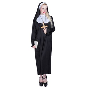 S〜XLハロウィン衣装 大人用 女性用 神聖なるシスター コスプレ 修道女 コスチューム 巫女 ハロウィン 衣装 教会 レディース ガールズ ウィッチ ハロウィーン
