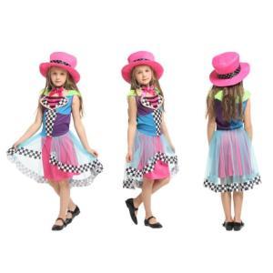 子供ハロウィン衣装子供  女の子 サーカスのピエロ 滑稽 道化師 キッズ ハロウィン衣装 幼稚園ハロ...