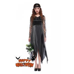 ハロウィン衣装 大人用 女性用 ドレス  ゾンビの花嫁 ウィッチガール  ハロウィン 衣装 仮装 コ...