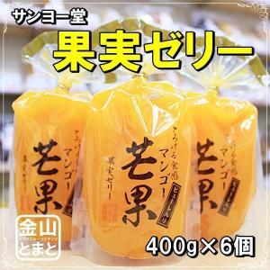 サンヨー堂 果実ゼリー「マンゴー」400g ピューレ入り 6個セット