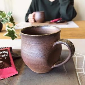 松風作コーヒーカップ kanayamayaki