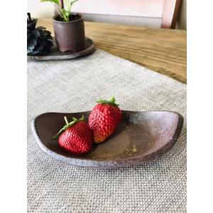 舟形醤油皿|kanayamayaki