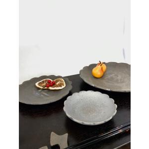 「須恵器」豆皿 フラワー|kanayamayaki