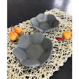 「須恵器」六角花びら小鉢|kanayamayaki
