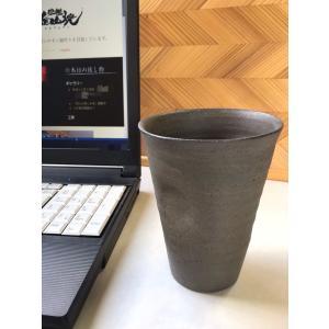 黒ひだすき くぼみカップ 大|kanayamayaki