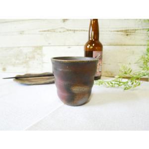 ロックカップろくろ目/津軽金山焼 金山焼 陶器 日本製 手作り プレゼント 贈り物 おしゃれ ろくろ目 カップ コップ 食器 器 |kanayamayaki